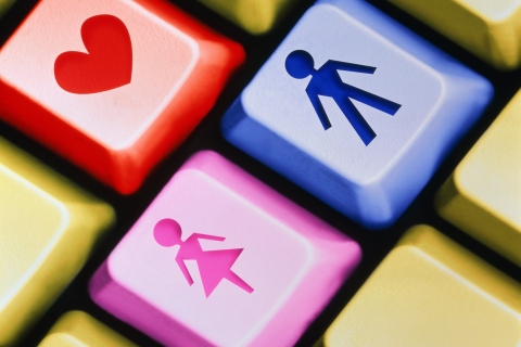 Online Dating, Keyboard, Love