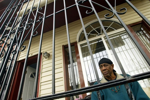 File photo of a Camden resident sitting on his porch in Camden, New Jersey