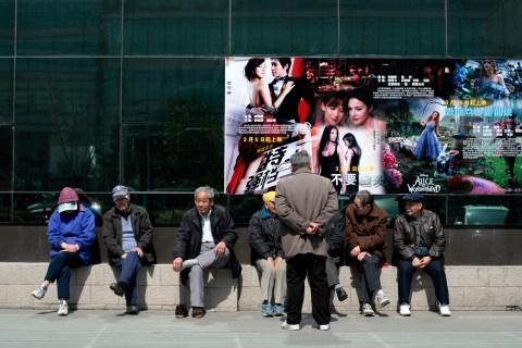 A cinema in downtown Shanghai