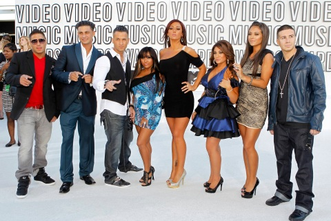 """Cast of """"Jersey Shore"""" at the 2010 MTV Video Music Awards in Los Angeles"""