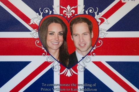 A souvenir place mat for the royal wedding