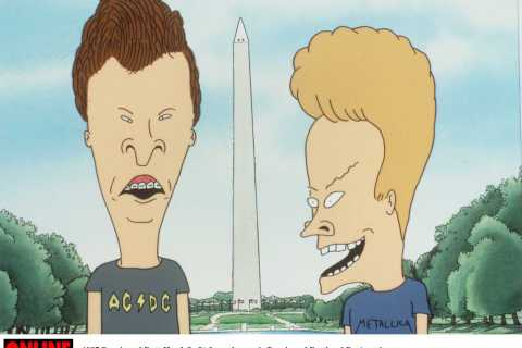 """Beavis (Right) and Butt Head from the movie """"Beavis And Butt Head Do America"""""""