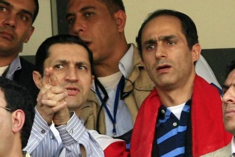 Alaa (L) and Gamal Mubarak, sons of Egyp