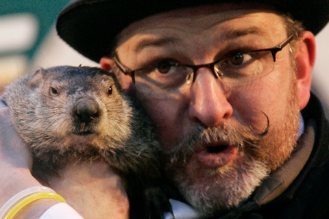 Famed weather prognosticating groundhog Punxsutawney Phil makes his annual prediction in Punxsutawney Pennsylvania