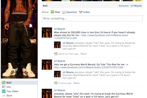 Lil Wayne Facebook Page