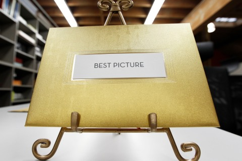 The new envelope that will be used for the 83rd Academy Awards