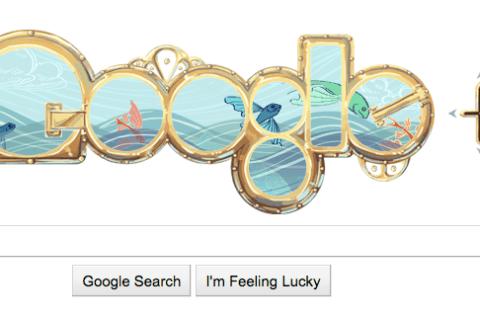 Jules Verne Google Doodle