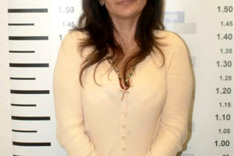Sandra Avila is seen after her arrest in Mexico City in this photograph released by the Attorney General's office