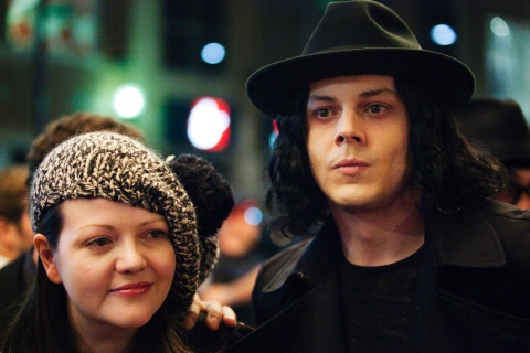 """Jack and Meg White arrive for the  """"White Stripes: Under the Great White Northern Lights""""  film screeningduring the Toronto International Film Festival"""