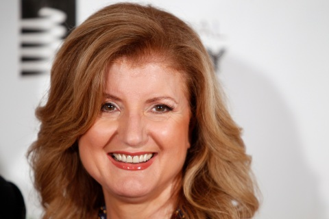 Arianna Huffington arrives to attend the Webby Awards in New York