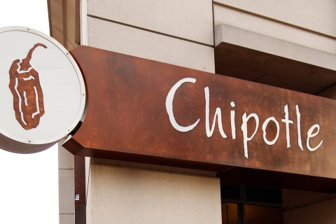 A sign for a Chipotle Mexican restaurant is seen in Arlington