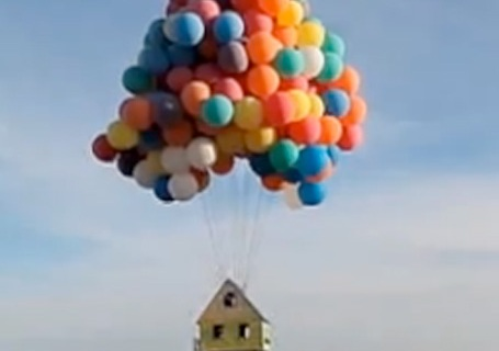 Floating House From Up Recreated In Real Life