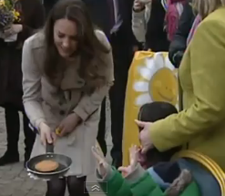 Kate Middleton Pancake Tossing