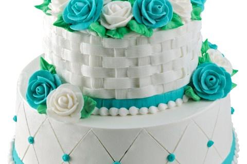 Royal Wedding cake baskin robbinsTWO_TIER_BASKET_WEAVE