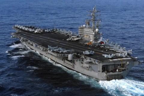 US Navy's USS Ronald Reagan aircraft carrier