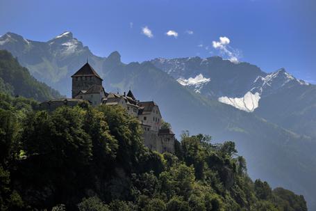 The Castel of Vaduz, home of the Liechte