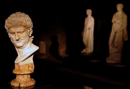 The statue of Roman Emperor Nero is pict