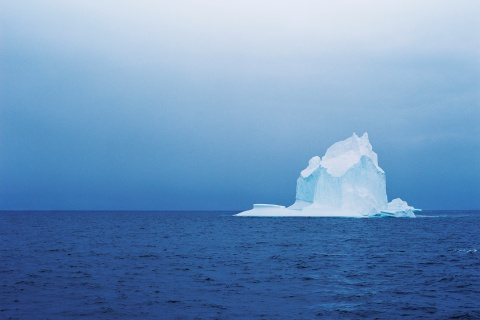 An iceberg in the ocean