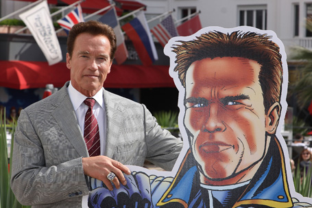 Arnold Schwarzenegger Photocall - MIPTV 2011
