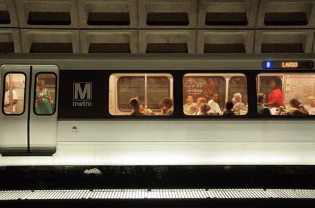 A Metro train rolls into the McPherson S