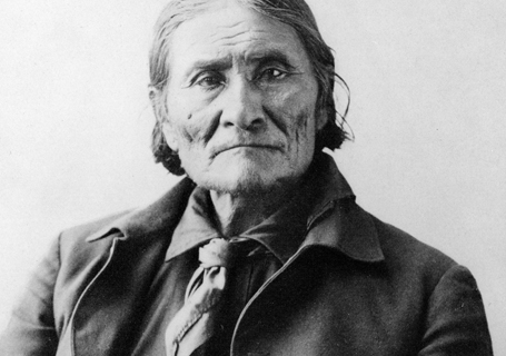 Portrait Of American Indian Chief Geronimo