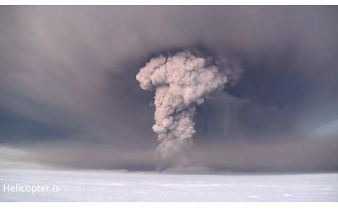 Iceland Volcano Eruption Video
