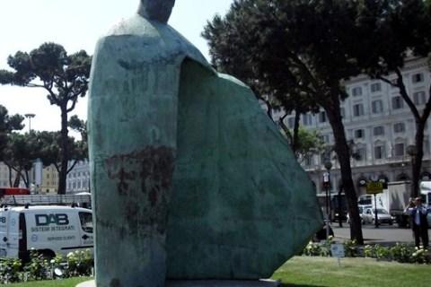 Italy Vatican Pope's Sculpture