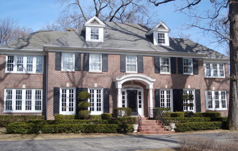 """The """"Home Alone"""" house in the village of Winnetka, outside of Chicago"""