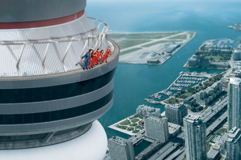 Artist rendition of the EdgeWalk at the CN Tower