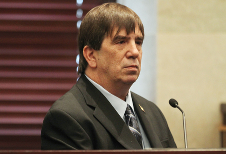 Roy Kronk, the meter reader who found Caylee Anthony's remains, testifies in the murder trial of Casey Anthony at the Orange County Courthouse in Orlando, Florida, Tuesday, June 28, 2011. (Red Huber/Orlando Sentinel/MCT)
