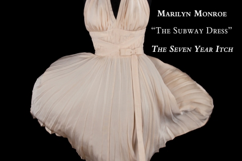 """The """"subway dress"""" worn by actress Marilyn Monroe."""