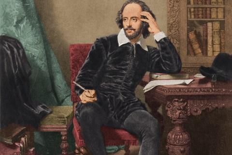 William Shakespeare (1564 - 1616), circa 1600.