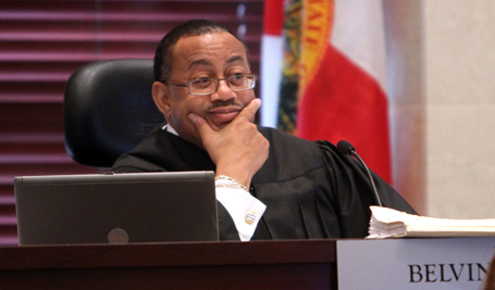 Chief judge Belvin Perry listens to a motion from the defense during the Casey Anthony
