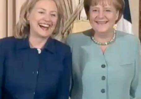 Clinton and Merkel
