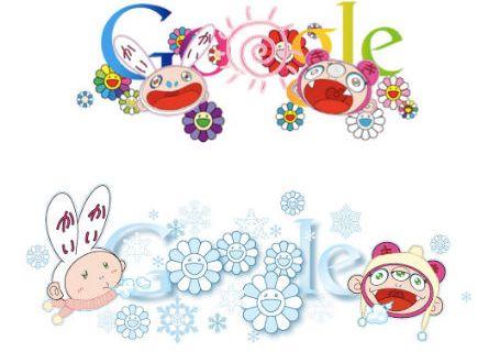 Google doodles Murakami