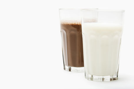 Regular and Chocolate Milk