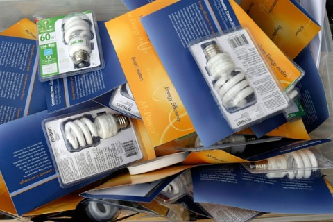 Clamshell Packaging Light Bulbs