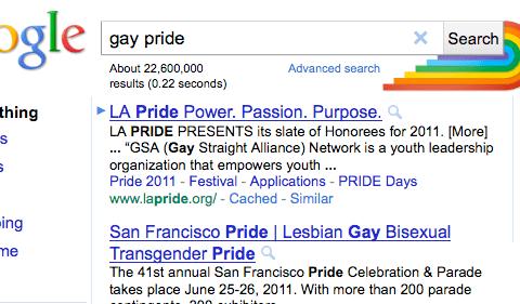 Google Gay Pride Rainbow