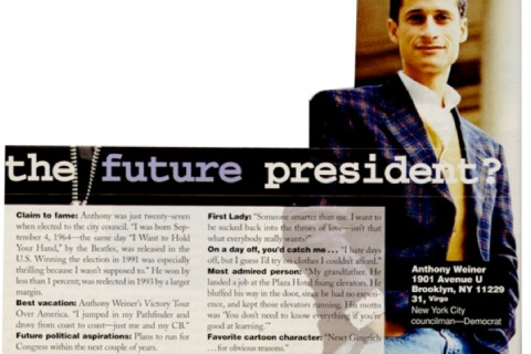 Anthony Weiner in Cosmo