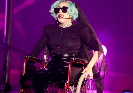 "Singer Lady Gaga performs during the ""Gaga Live"" concert in Sydney's Town Hall"