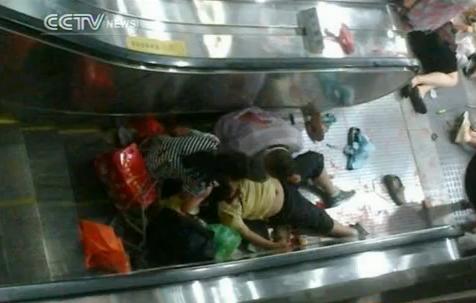 Beijing escalator mishap