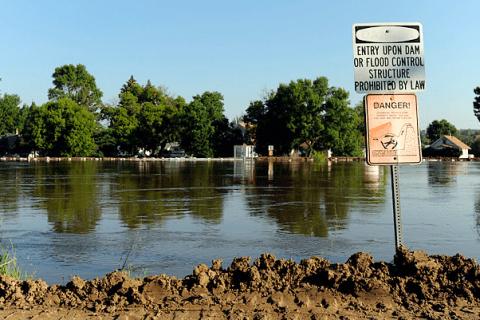 Flood in North Dakota