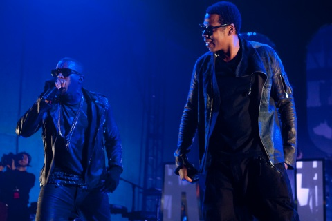 Kanye West and Jay-Z perform in Texas