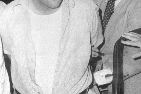 "David ""Son of Sam"" Berkowitz during his arrest in 1977."