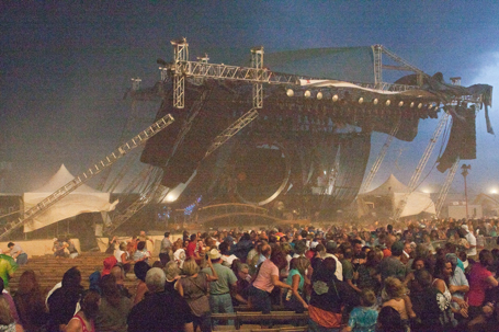 Stage Collapses At The Indiana State Fair