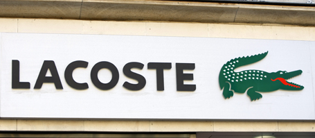France' s sports label Lacoste logo is seen in Paris