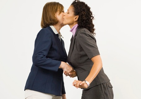 Office Kiss Greeting