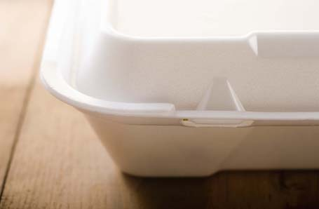 Styrofoam container