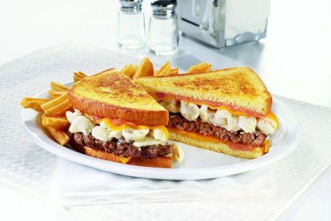 Denny's Mac 'n Cheese Big Daddy Patty Melt