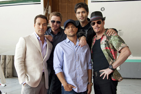 The cast of Entourage from the series finale (photo courtesy of HBO).